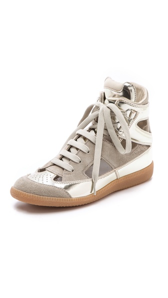 Maison Martin Margiela Cutout Suede Sneakers