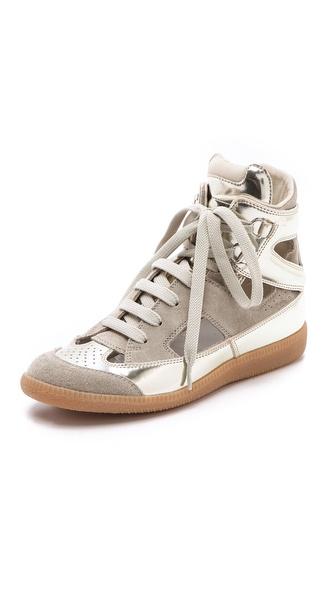 Maison Martin Margiela Cutout Suede Sneakers