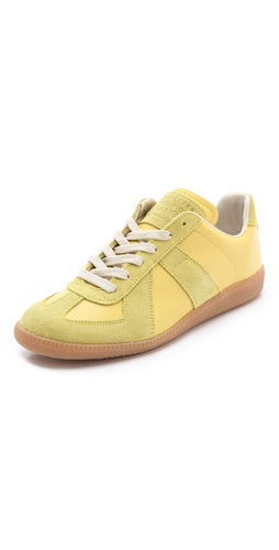 Maison Martin Margiela Lime Sneakers at Shopbop.com