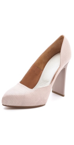 Maison Martin Margiela Stamped Cutout Pumps at Shopbop.com