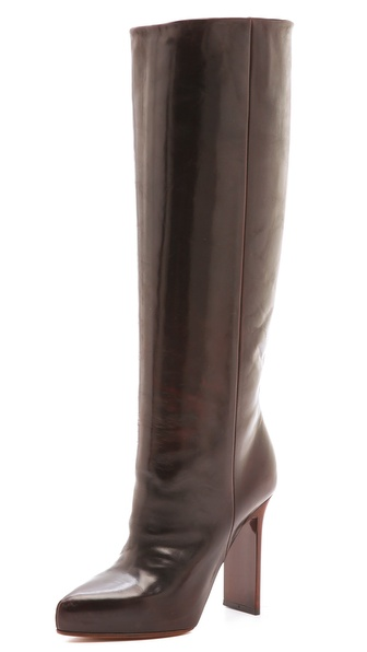Maison Martin Margiela Wood Grain Heel Leather Boots
