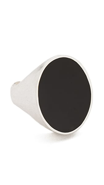 Maison Margiela Silver & Black Ring