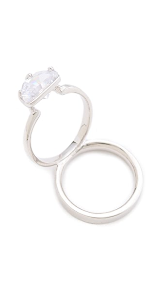 Maison Martin Margiela Crystal Ring on Ring