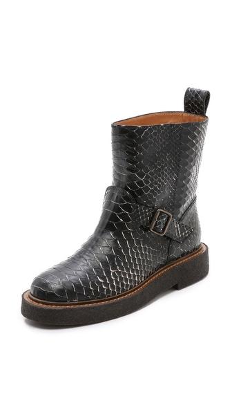 Maison Martin Margiela Coated Snakeskin Boots