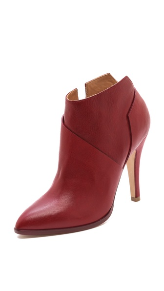 Maison Martin Margiela Leather Asymmetrical Booties