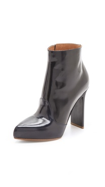Maison Martin Margiela Leather Booties with Chunky Heel