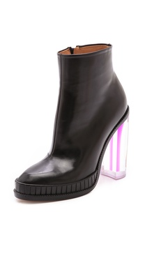 Maison Martin Margiela Leather Boots with Shaded Plexiglass Heel