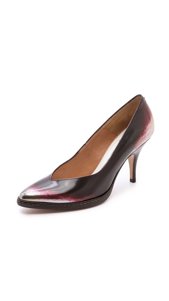 Maison Martin Margiela Leather Brushed Effect Pumps