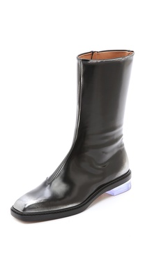 Maison Martin Margiela Leather Brushed Effect Boots