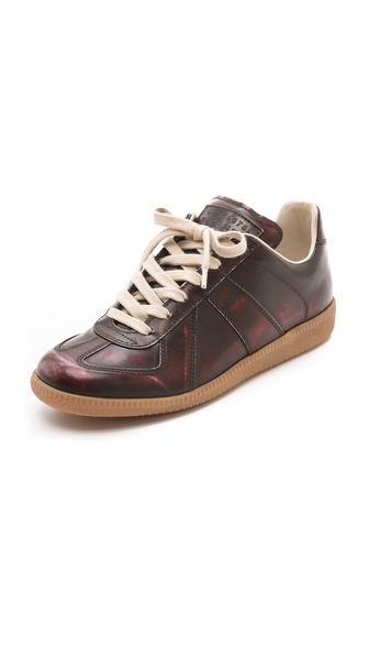 Maison Martin Margiela Leather Brushed Effect Sneakers