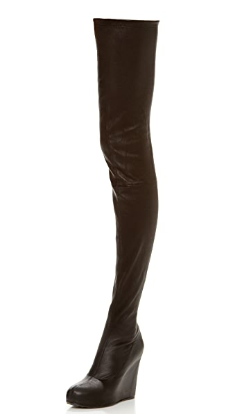 Maison Martin Margiela Thigh High Wedge Boots