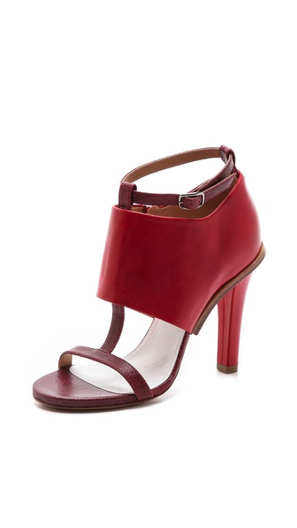Maison Martin Margiela Leather T Strap Heels