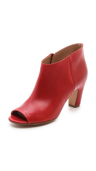 Maison Martin Margiela Leather Peep Toe Booties