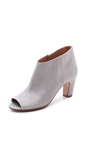 Maison Margiela Textured Peep Toe Booties