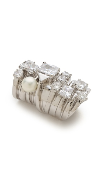 Maison Martin Margiela Stacked Faux Diamond Ring