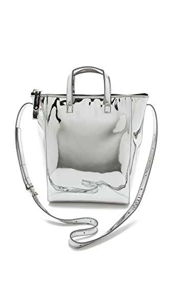 Maison Margiela Mirrored Faux Leather Tote