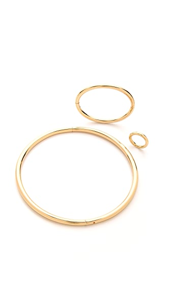 Maison Margiela Gold Tone Jewelry Set