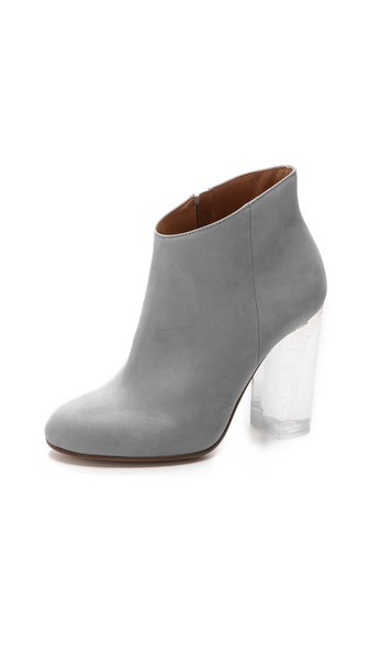 Maison Martin Margiela Glitter Heel Leather Booties