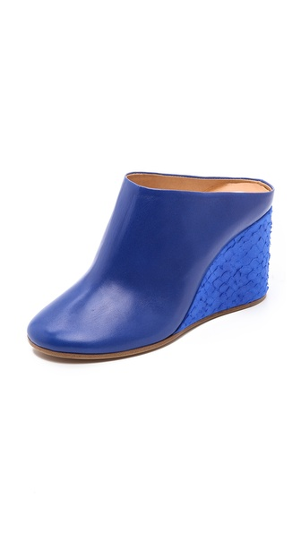 Maison Martin Margiela Leather Mules - Blue at Shopbop / East Dane