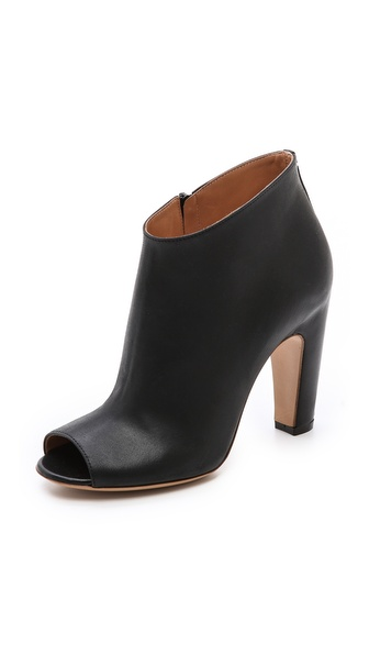 Maison Martin Margiela Leather Open Toe Booties