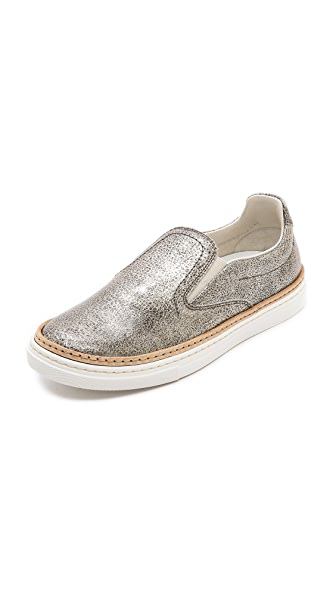 Maison Martin Margiela Leather Slip On Sneakers