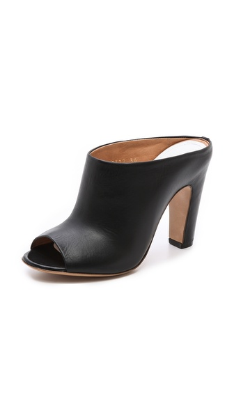 Maison Martin Margiela Open Toe Mules - Black at Shopbop / East Dane
