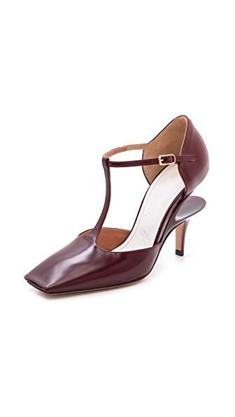 Maison Martin Margiela Leather T-Strap Pumps