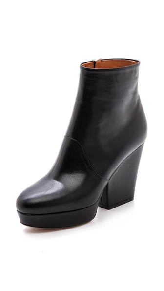 Maison Martin Margiela Leather Block Booties