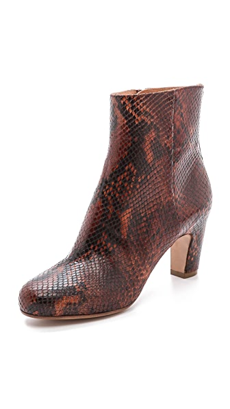Maison Martin Margiela Snake Printed Leather Booties