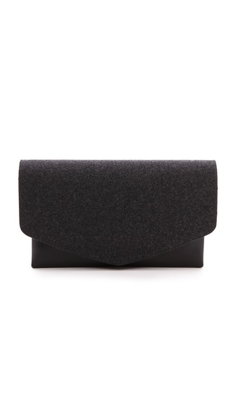 Maison Martin Margiela Felt and Leather Clutch