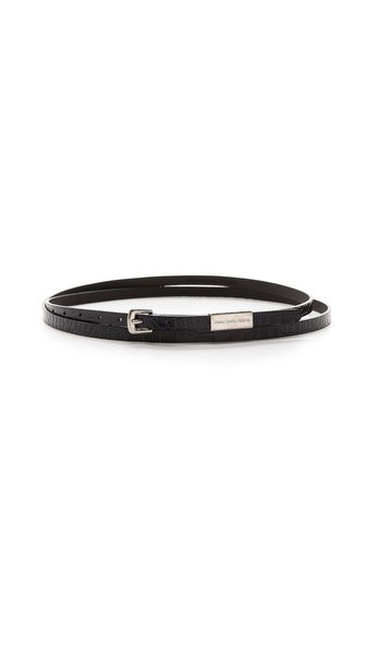 Maison Martin Margiela Croc Embossed Wrap Belt