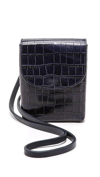Maison Martin Margiela Embossed Leather Cross Body Bag