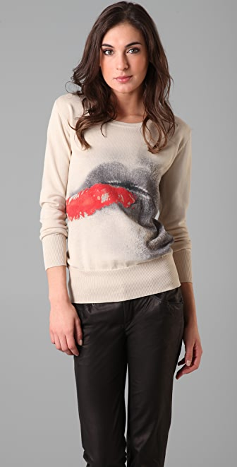 Markus Lupfer Digital Lip Sweater