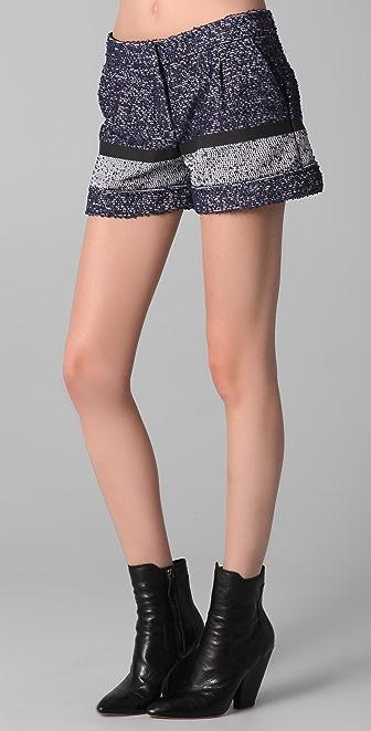 Markus Lupfer Rubber & Tweed Shorts