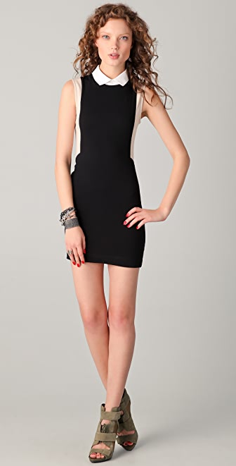 Markus Lupfer Collared Body Con Dress