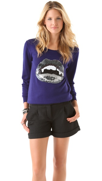 Markus Lupfer Vampire Lip Sequin Sweater