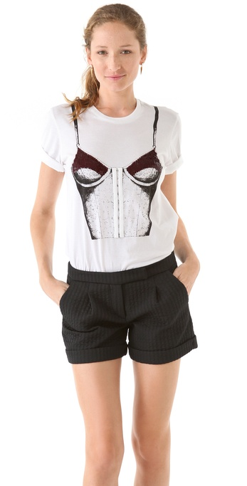 Markus Lupfer Embroidered Bodice Tee