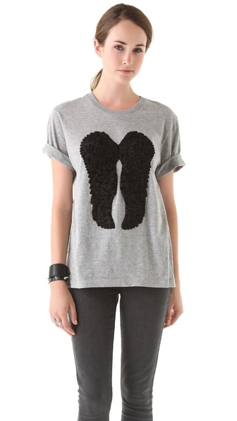 Markus Lupfer Velvet Feather Wing T-Shirt