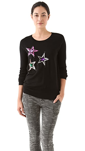 Markus Lupfer Sequin Star Sweater