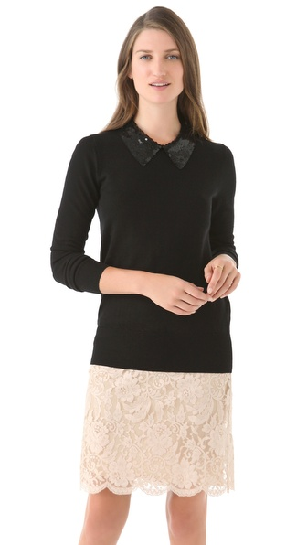 Markus Lupfer Sequin Collar Sweater