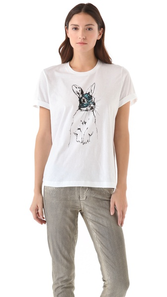 Markus Lupfer Sequin Bunny Tee