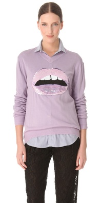 Markus Lupfer Lip Sequin Sweater