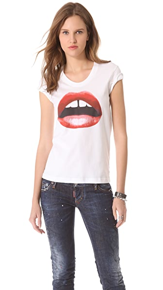 Markus Lupfer Red Lip Lara Tee