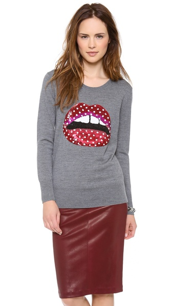 Markus Lupfer Polka Dot Lips Sweater