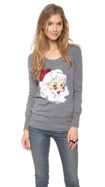 Markus Lupfer Santa Claus Sequin Sweater