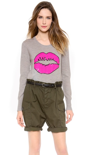 Markus Lupfer Pink Smacker Sequined Pullover