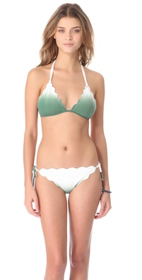 Marysia Swim Cay Scallop String Bikini