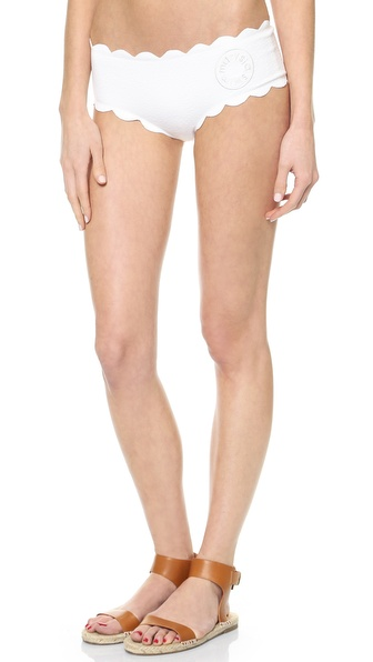 Marysia Swim High Waisted Scallop Bikini Bottoms