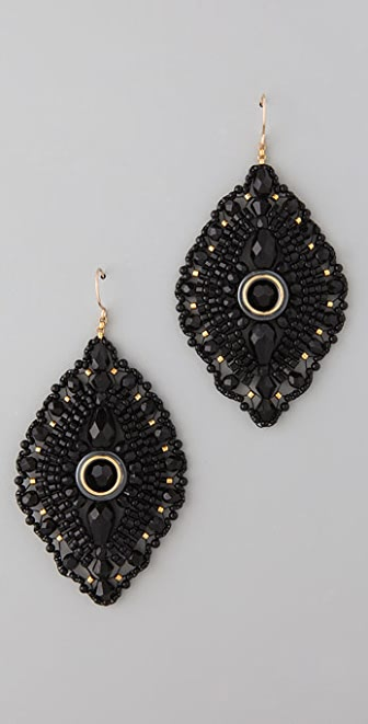 Miguel Ases Onyx Chandelier Earrings