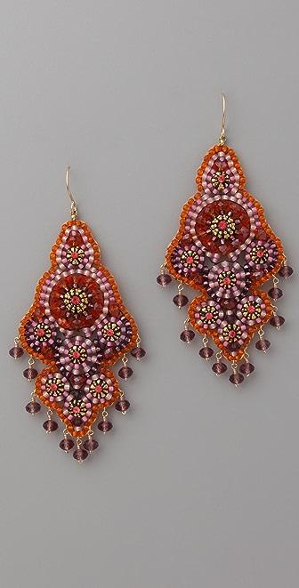 Miguel Ases Fire Opal Quartz Swarovski Earrings